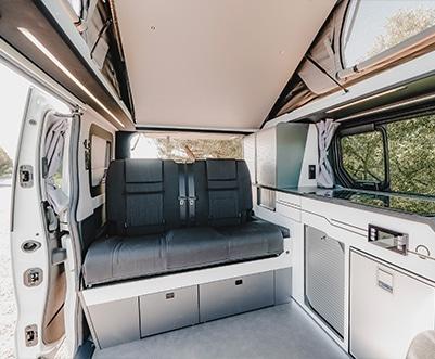banquette deux places d'un van aménagé hanroad